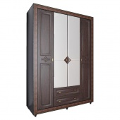 Шкаф 4-х дверный Калипсо венге N-24