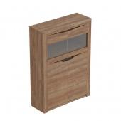 Шкаф 2-х дверный Соренто дуб стирлинг (стеклянная дверца)