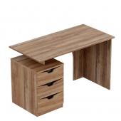 Стол письменный Соренто дуб стирлинг (3 ящика)