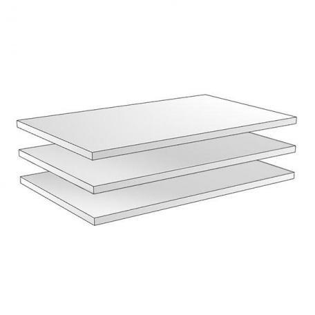 Полки широкие для трёхдверного шкафа Гарда