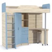 Кровать-чердак со столом Ника