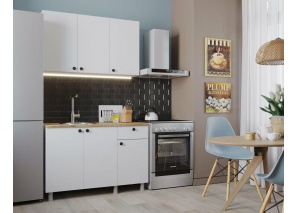 Кухня Деми 120 (белый)