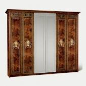 Шкаф 6-ти дверный Карина-3 орех